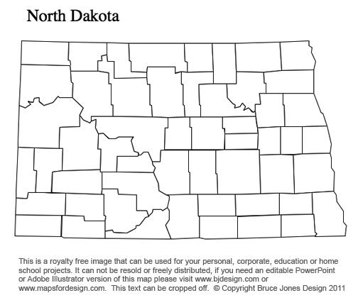 New Mexico to South Carolina US County Maps