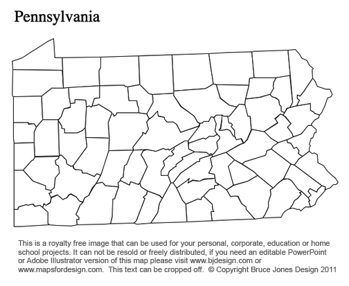 Pa County Map Printable Printable Maps - Us map pennsylvania