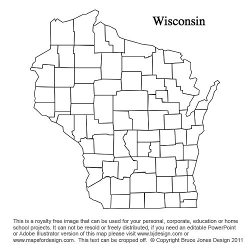 Wisconsin County Map Printable Printable Maps - Wisconsin on us map