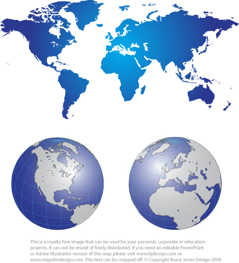Free World Map Projection Mercator And Robinson Printable Blank - Printable globe map of the world