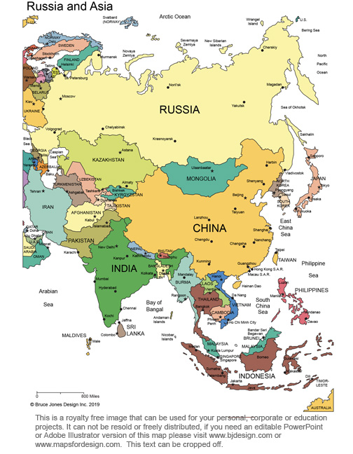 CIS Asia Continent Royalty Free, printable, blank, jpg map