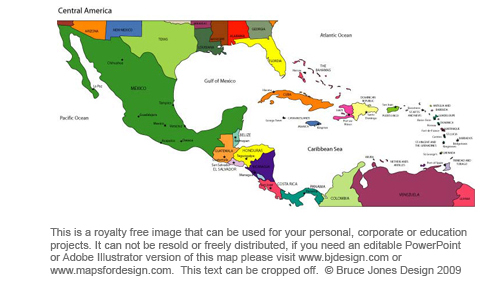 Printable Map Of Central America  Printable Maps