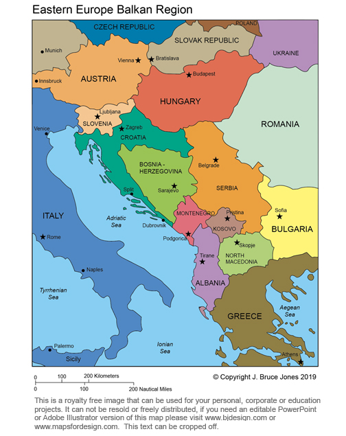 World regional printable maps royalty free download for your yugoslavia region royalty free printable blank jpg map gumiabroncs Images