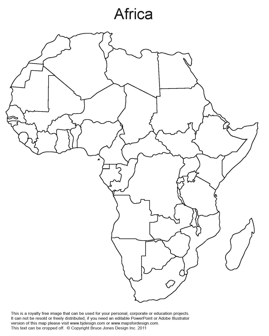 Enterprising image inside map of africa printable