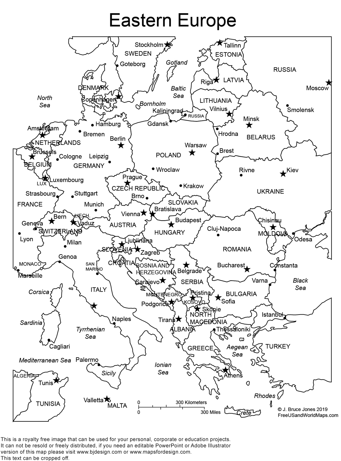 It is a graphic of Dramatic Printable Map of Europe