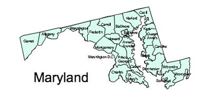 US Printable County Maps, Royalty Free