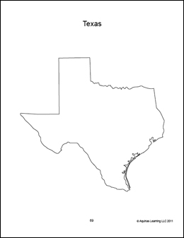texas regions coloring pages - photo#11