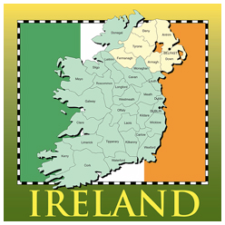 graphic relating to Flag of Ireland Printable named Map Outfits, Presents and Solutions Free of charge US and Earth Maps