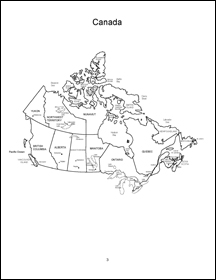 Map Of Canada Colouring Page.Canada And The Canadian Provinces Coloring Book