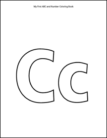 ABC and Number Coloring Book