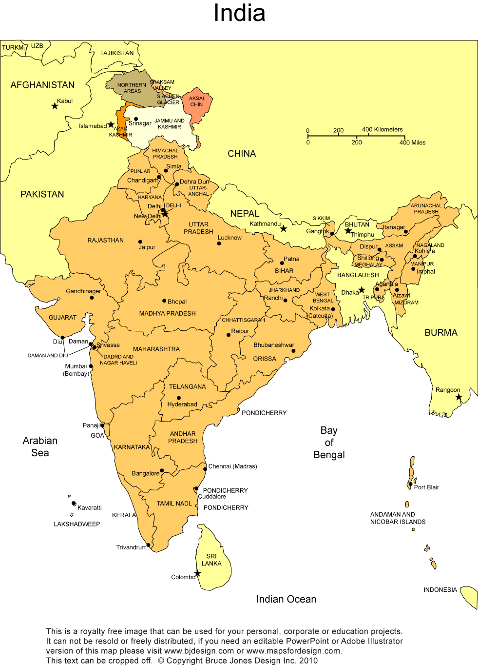 graphic about Printable Maps of India called India Printable, Blank Maps, Define Maps Royalty Totally free