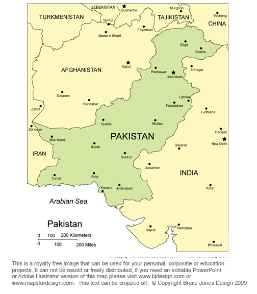 Islamabad Pakistan Map: Maps Of Asian And Far East Countries, Printable, Royalty