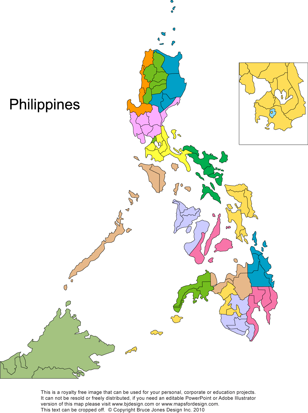 Philippines Printable, Blank Maps, Outline Maps • Royalty Free