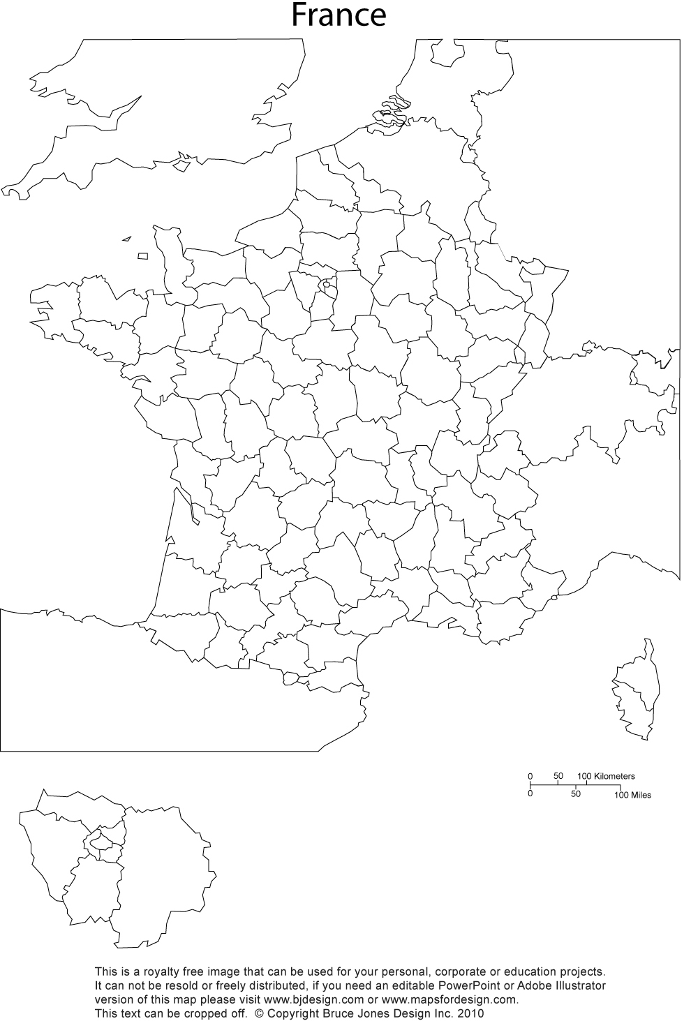 Outline Political Map Of France.France Map Printable Blank Royalty Free Jpg