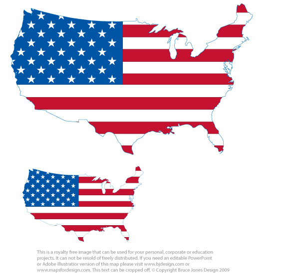 photo about United States Flags Printable titled US and Canada Maps, Printable, Blank, Royalty Totally free, Down load
