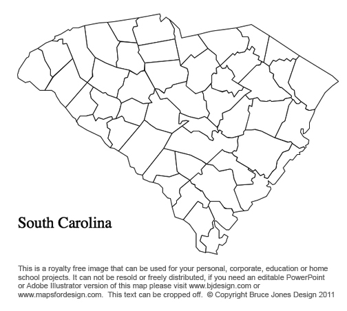 picture relating to Printable Map of South Carolina titled Fresh Mexico toward South Carolina US County Maps